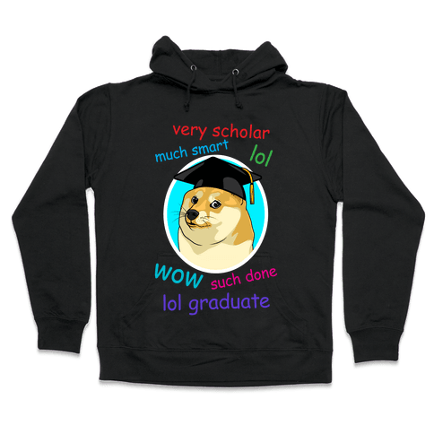 Doge Graduate Hooded Sweatshirt