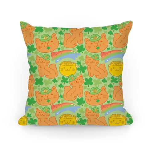 Magical Leprechaun Cats Pillow