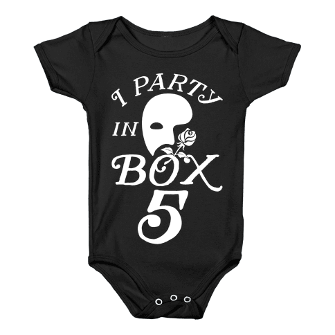 I Party In Box 5 Baby Onesy
