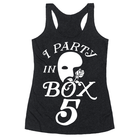 I Party In Box 5 Racerback Tank Top