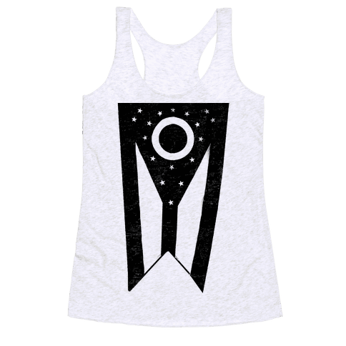 Black Ohio (vintage) Racerback Tank Top