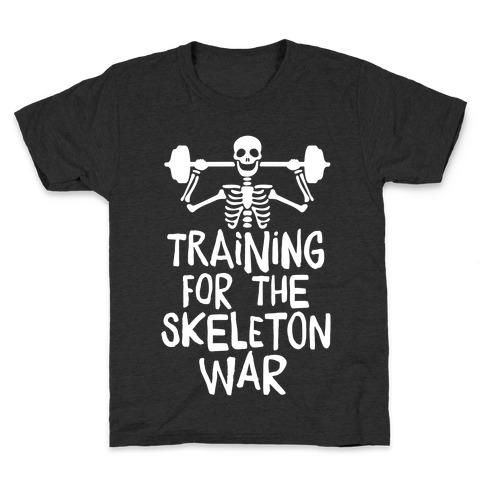 Training For The Skeleton War Kids T-Shirt