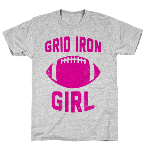 Grid Iron Girl Mens T-Shirt