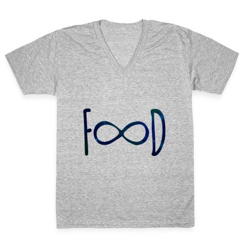 Food Infinity V-Neck Tee Shirt