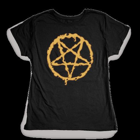 Cookie Dough Pentagram Womens T-Shirt