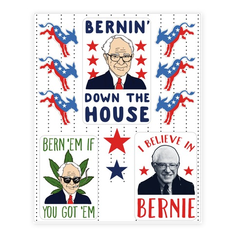 Bernin' Down the House Sticker/Decal Sheet