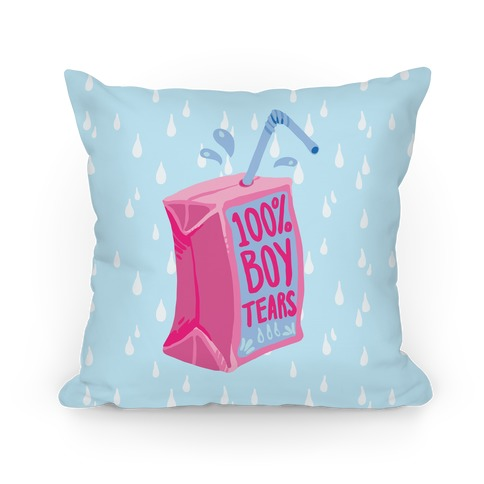 100% Boy Tears Pillow