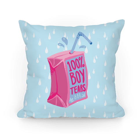 100% Boy Tears Pillow