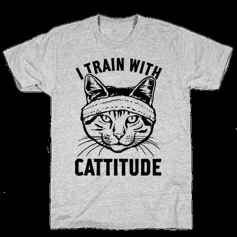I Train With Cattitude Mens T-Shirt