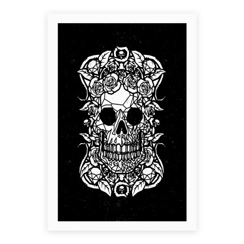 Punk Diamond Skull Poster