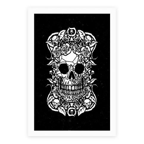 Punk Diamond Skull Poster
