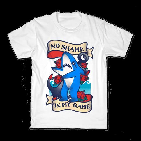 No Shame in My Game (Left Shark Tattoo) Kids T-Shirt