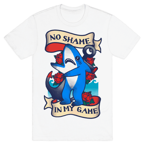 No Shame in My Game (Left Shark Tattoo) Mens T-Shirt