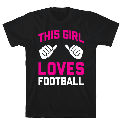 This Girl Loves Football Mens T-Shirt