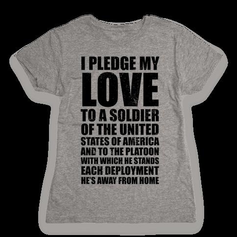 I Pledge My Love (V-Neck) Womens T-Shirt