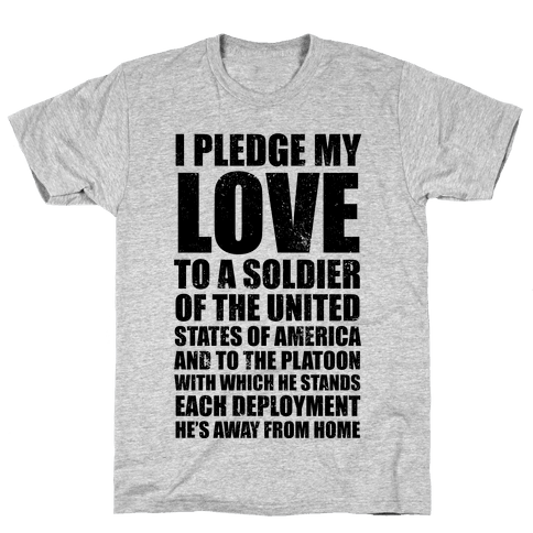 I Pledge My Love (V-Neck) Mens T-Shirt