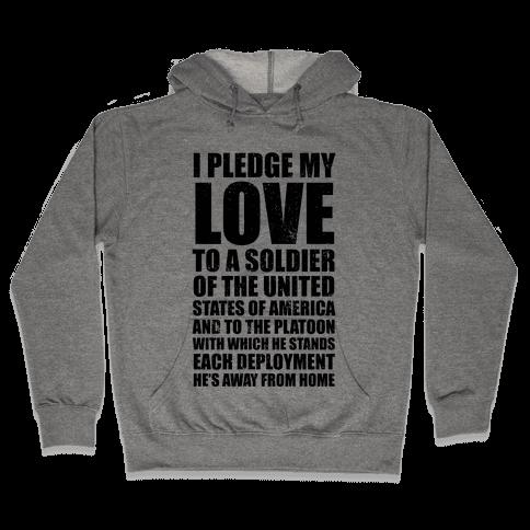 I Pledge My Love (V-Neck) Hooded Sweatshirt