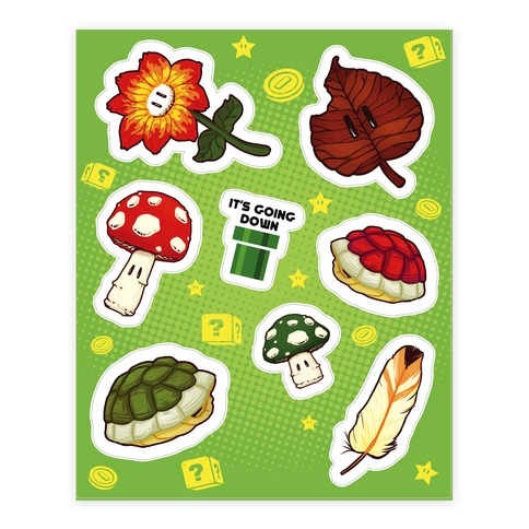 Power-Up  Sticker/Decal Sheet