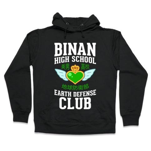 Binan High School Earth Defense Club (Green) Hooded Sweatshirt