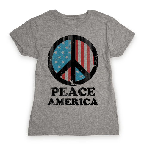 Peace America Womens T-Shirt