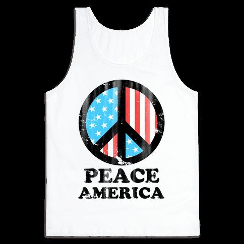 Peace America Tank Top