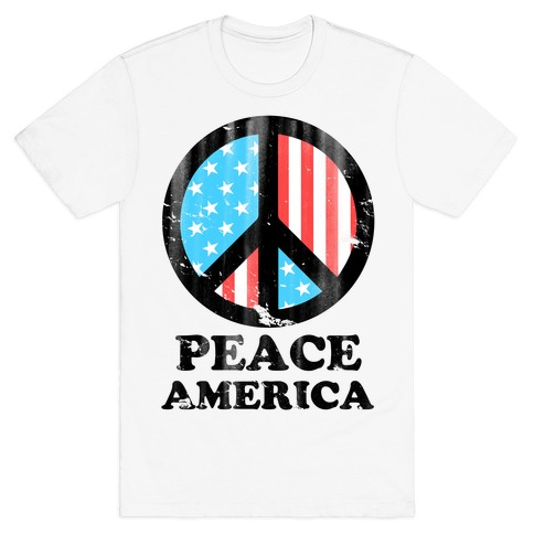 Peace America Mens T-Shirt
