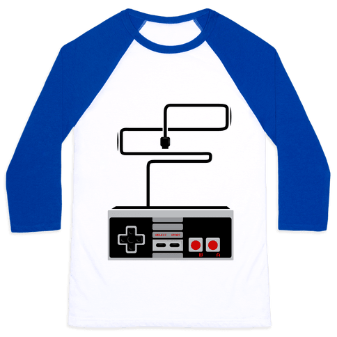 Retro Video Game Controller Baseball Tee