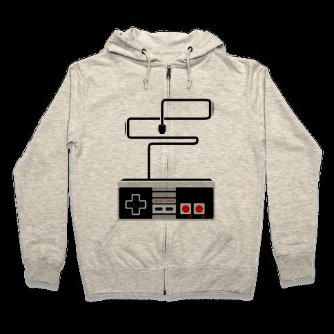 Retro Video Game Controller Zip Hoodie
