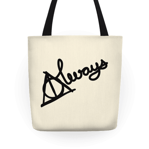 Hallows Always (Black on White) Tote