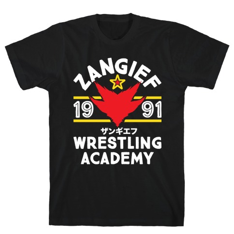 Zangief Wrestling Academy Mens T-Shirt