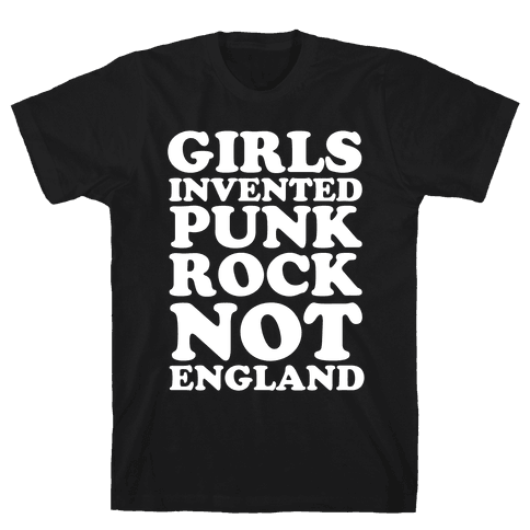 Girls Invented Punk Rock Mens T-Shirt