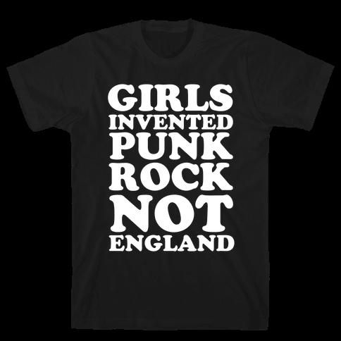 Girls Invented Punk Rock Mens T-Shirt