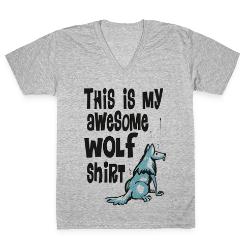 AWESOME WOLF SHIRT V-Neck Tee Shirt