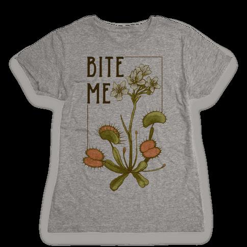 Bite Me Venus Flytrap Womens T-Shirt