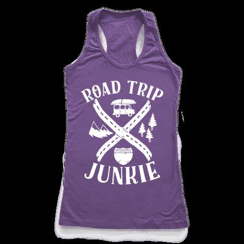 Road Trip Junkie Racerback Tank Top