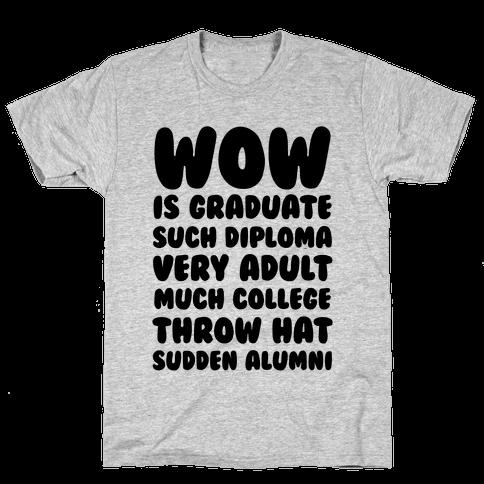 Wow Graduation Mens T-Shirt