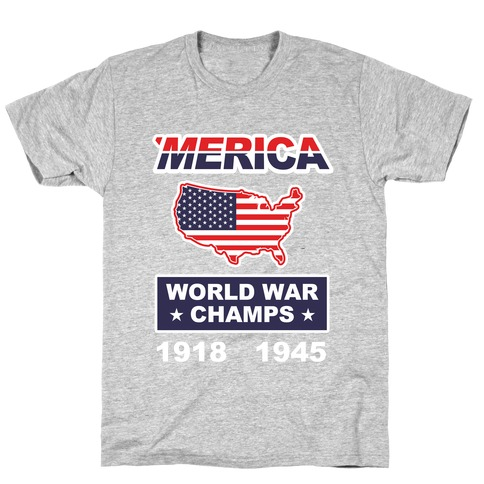 Merica World War Champs Mens T-Shirt