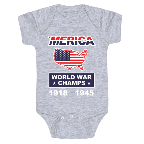 Merica World War Champs Baby Onesy