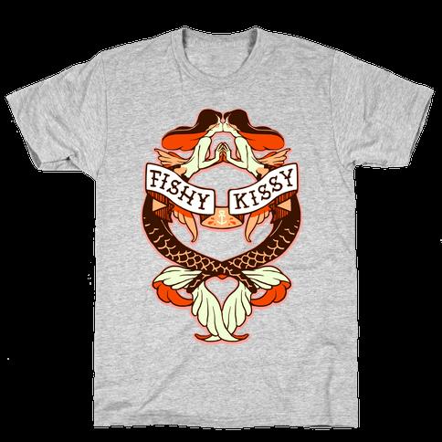 Fishy Kissy Mens T-Shirt
