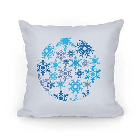 Snowflake Sphere Pillow