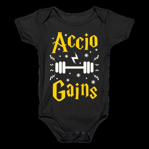 Accio Gains Baby Onesy