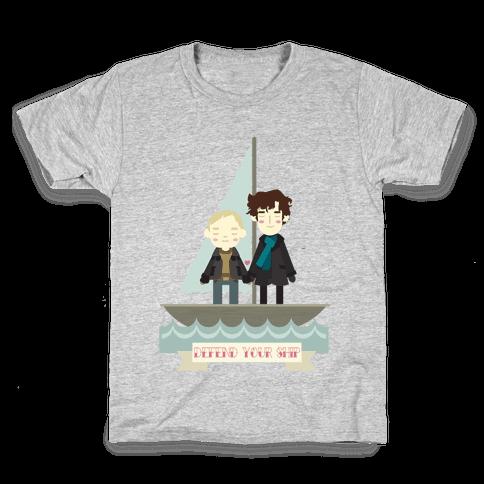 Sherlock Defend Your Ship Kids T-Shirt
