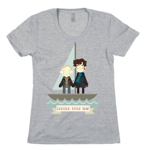 Sherlock Defend Your Ship Womens T-Shirt