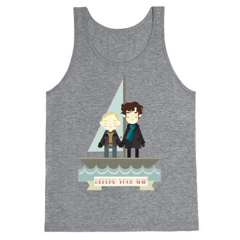 Sherlock Defend Your Ship Tank Top