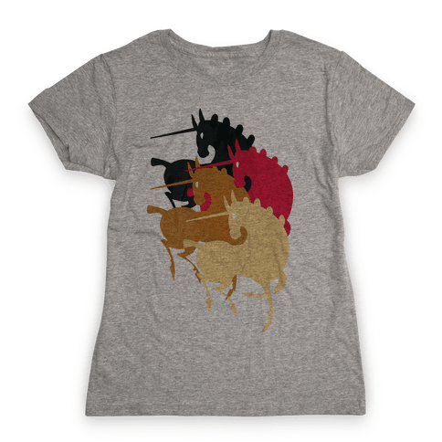 Unicorns Of The Apocalypse Womens T-Shirt