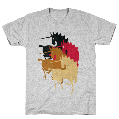 Unicorns Of The Apocalypse Mens T-Shirt