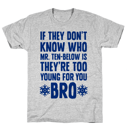 If They Don't Know Who Mr. Ten-Below Is Mens T-Shirt