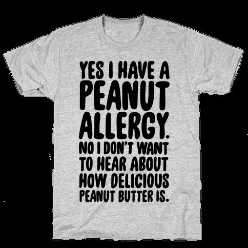 Peanut Allergy Mens T-Shirt