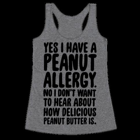 Peanut Allergy Racerback Tank Top