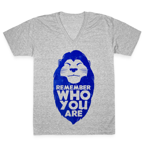 Remember Who You Are V-Neck Tee Shirt